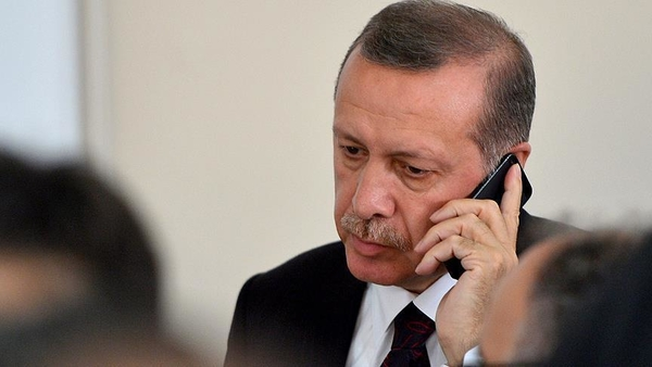 erdogan phone