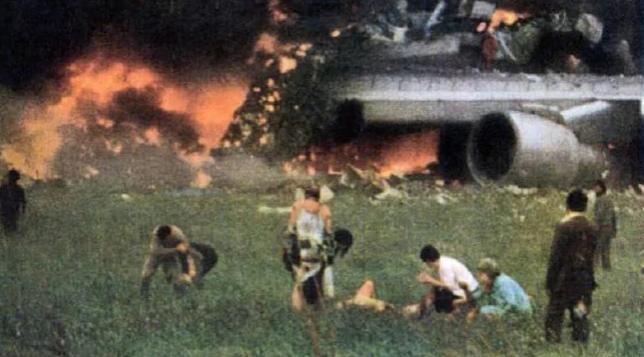 Οι επιζώντες κατάφεραν να ξεφύγουν από το αεροπλάνο Pan Am.