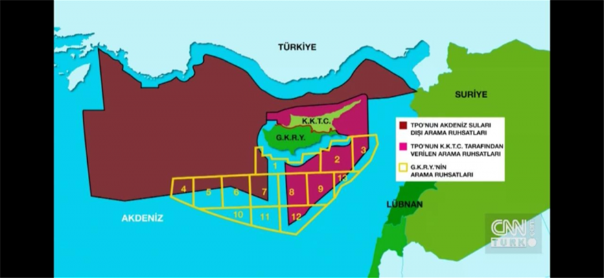 67 - Πρόκληση δίχως όρια: Οι Τούρκοι εξαφάνισαν Καστελλόριζο, ελληνική υφαλοκρηπίδα, Κυπριακή ΑΟΖ (pics)