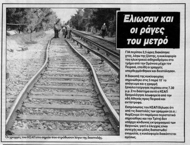 30 χρόνια από τον φονικό καύσωνα του 1987